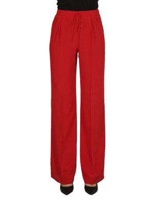 Max Mara: pantaloni casual online - Pantaloni Tremiti in seta rossa