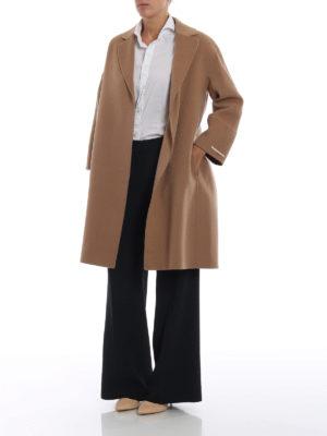 Max Mara: pantaloni casual online - Pantaloni palazzo Xiria in cady blu