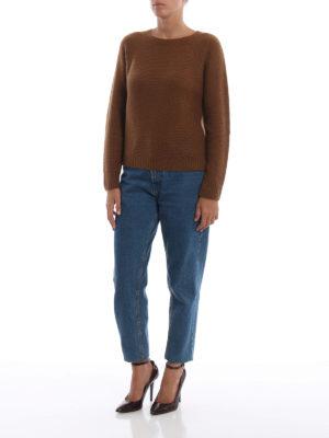 Max Mara: maglia collo rotondo online - Impalpabile girocollo Urali in cashmere seta