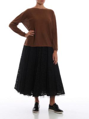 Max Mara: maglia collo rotondo online - Maglia oversize Corea in cashmere