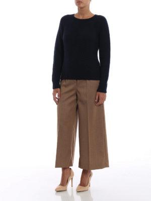 Max Mara: maglia collo rotondo online - Impalpabile girocollo Urali blu