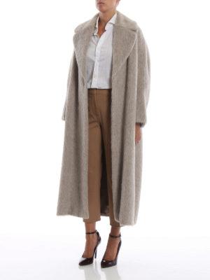 Max Mara: Pellicce e montoni online - Cappotto a vestaglia Guelfo in suri alpaca