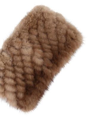 Max Mara: accessori per capelli online - Fascia per capelli in visone beige