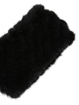 Max Mara: accessori per capelli online - Fascia per capelli nera in visone