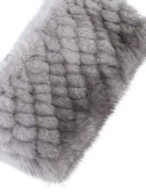 Max Mara: accessori per capelli online - Fascia per capelli grigia in visone