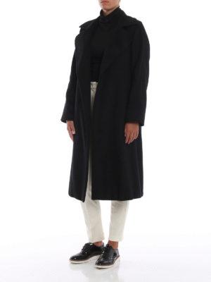 Max Mara: cappotti al ginocchio online - Cappotto 3Manuel in puro cammello nero