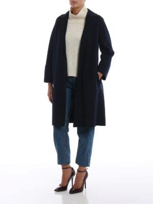 Max Mara: cappotti al ginocchio online - Cappotto Arona in pura lana vergine blu