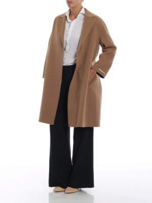 Max Mara: cappotti al ginocchio online - Cappotto Arona in pura lana vergine cammello