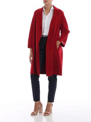 Max Mara: cappotti al ginocchio online - Cappotto Arona in pura lana vergine rosso