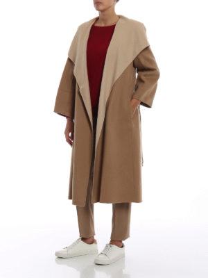 Max Mara: cappotti al ginocchio online - Cappotto Bosso lana cashmere e seta