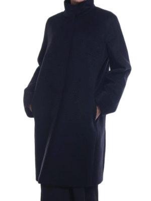 Max Mara: cappotti al ginocchio online - Cappotto Melina in pura lana nera