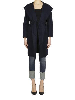 Max Mara: cappotti al ginocchio online - Cappotto Mozart lana e cashmere blu