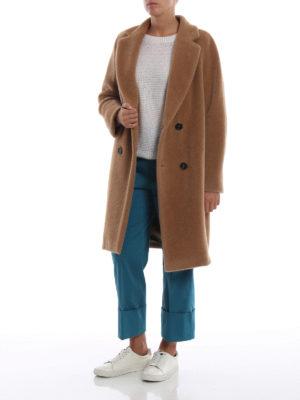 Max Mara: cappotti al ginocchio online - Cappotto Rose in misto alpaca color cammello