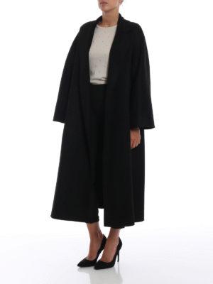 Max Mara: cappotti lunghi online - Cappotto Labbro in cashmere nero