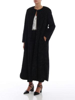 Max Mara: cappotti lunghi online - Cappotto Lcape effetto astrakan