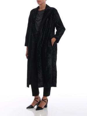 Max Mara: cappotti lunghi online - Cappotto Ocroma in tessuto effetto persiano