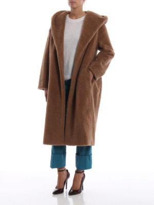 Max Mara: cappotti lunghi online - Cappotto lungo Vello in lana effetto peluche
