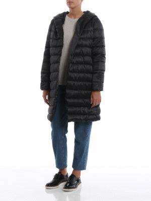 Max Mara: cappotti imbottiti online - Piumino nero Novef in taffetà tecnico double