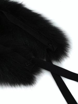 Max Mara: sciarpe e foulard online - Bordo cappuccio Uniion in pelliccia