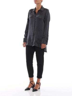 Max Mara: camicie online - Camicia Basilea in raso di seta con perline