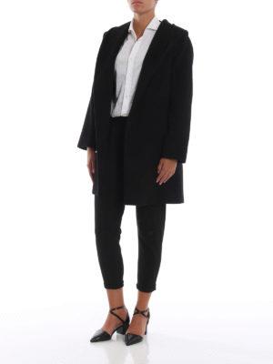 Max Mara: cappotti corti online - Cappottino 3Rialto in puro cammello nero