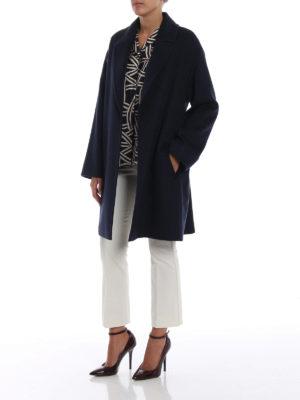 Max Mara: cappotti corti online - Cappotto Crasso in lana blu