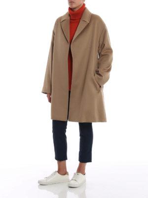 Max Mara: cappotti corti online - Cappotto Crasso in lana cammello