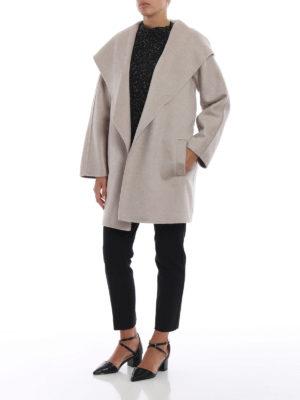 Max Mara: cappotti corti online - Cappottino a vestaglia Valdese in cashmere