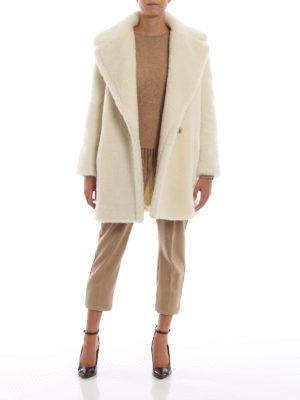 Max Mara: Pantaloni sartoriali online - Pantaloni Piume in pura lana color cammello