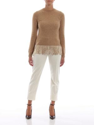 Max Mara: Pantaloni sartoriali online - Pantaloni Piume in pura lana bianca