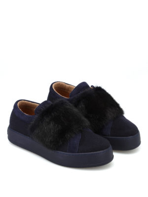 Max Mara: sneakers online - Sneaker MM91 in cashmere e visone