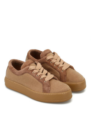 Max Mara: sneakers online - Sneaker MM94 in cashmere cammello