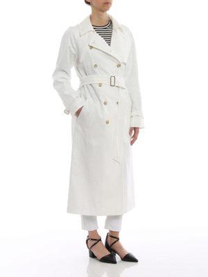 Max Mara: cappotti trench online - Trench Azeglio in lino