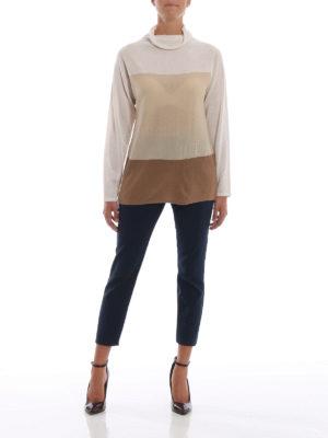 Max Mara: maglia a collo alto e polo online - Maglia Formia in pura lana color block