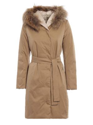 Max Mara: cappotti imbottiti - Cappotto imbottito Mino inserto in pelliccia