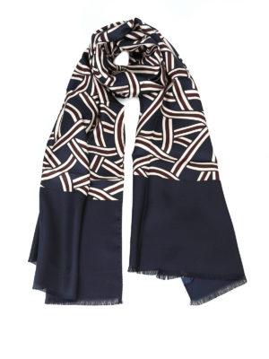 Max Mara: sciarpe e foulard - Sciarpa Agitare in twill di seta stampata