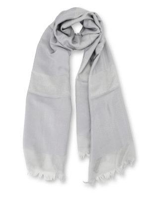 Max Mara: scarves - Tessile silk viscose blend scarf