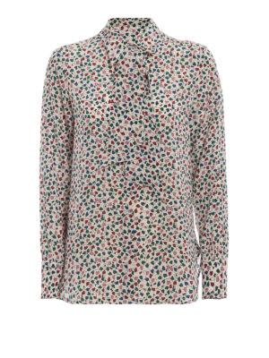 Max Mara: camicie - Camicia in seta Ofelia con cuori stampati