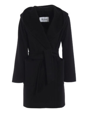 Max Mara: cappotti corti - Cappottino 3Rialto in puro cammello nero