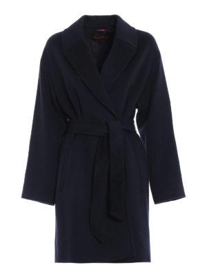 Max Mara: cappotti corti - Cappotto Crasso in lana blu