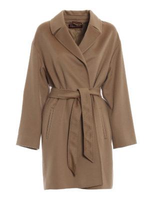 Max Mara: cappotti corti - Cappotto Crasso in lana cammello