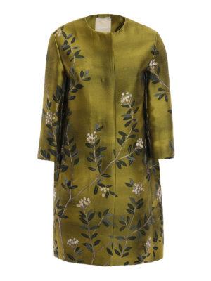Max Mara: short coats - Eterno floral jacquard duster coat