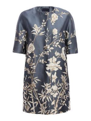Max Mara: short coats - Maranta floral jacquard duster coat