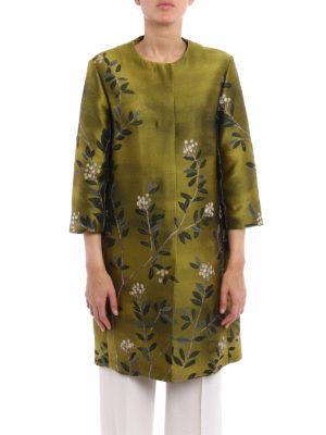 Max Mara: short coats online - Eterno floral jacquard duster coat