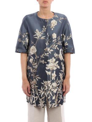 Max Mara: short coats online - Maranta floral jacquard duster coat