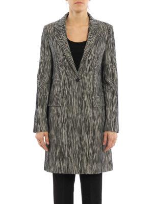 Max Mara: short coats online - Potenza jacquard cotton coat