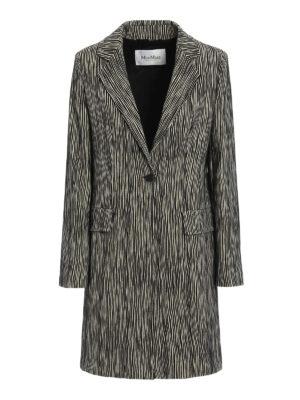 Max Mara: short coats - Potenza jacquard cotton coat