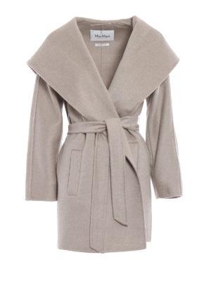 Max Mara: cappotti corti - Cappottino a vestaglia Valdese in cashmere