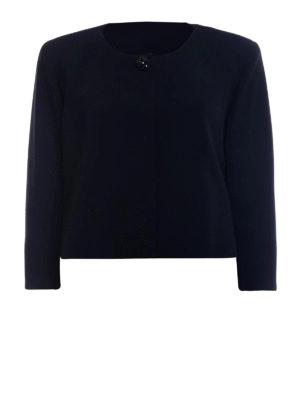 Max Mara: giacche sartoriali - Giacca crop Victor in cady nero