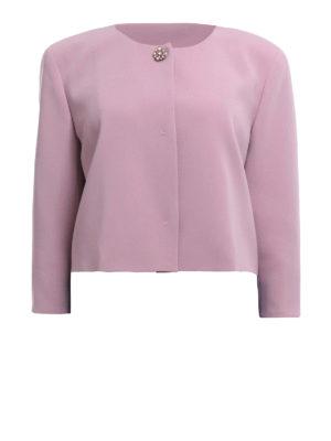 Max Mara: giacche sartoriali - Giacca crop Victor in cady rosa